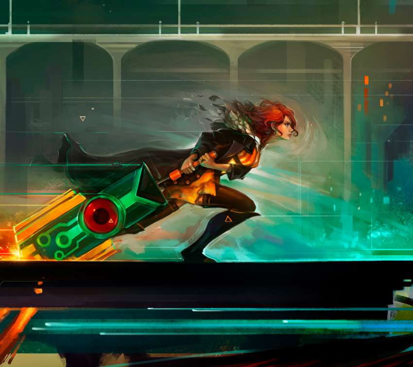 Red Run - Transistor fan art Mobile Horizontal fond d'écran