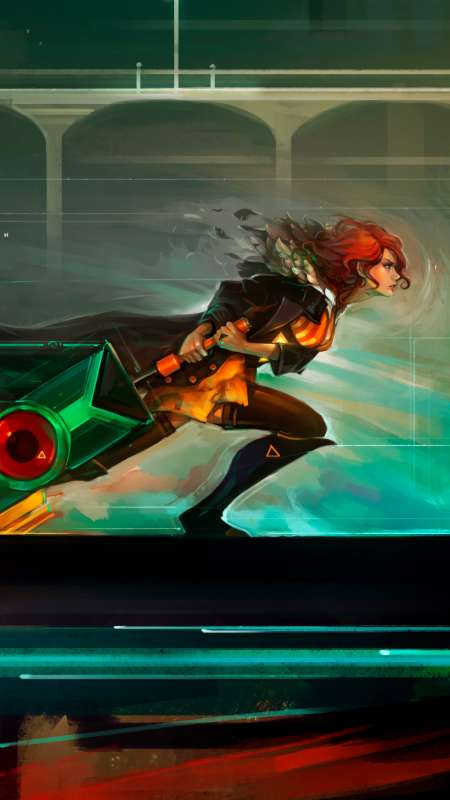 Red Run - Transistor fan art Mobile Vertical fond d'écran