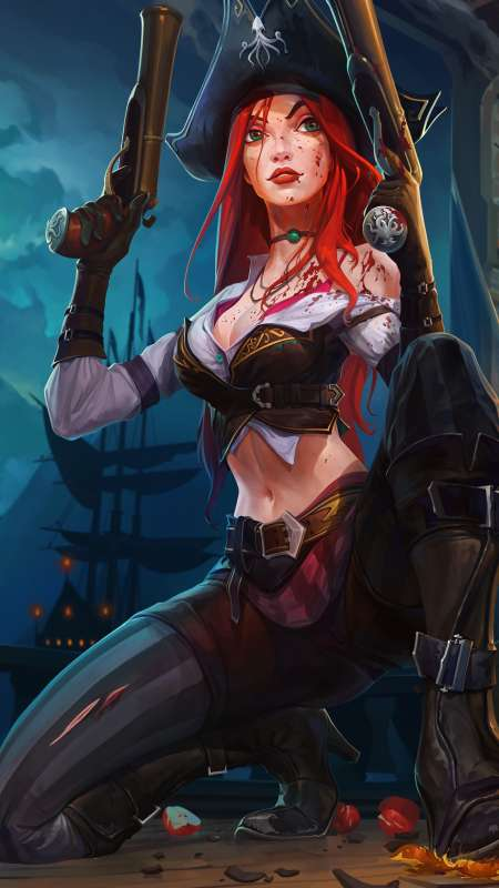 Miss Fortune fan art Mobile Vertical fond d'écran