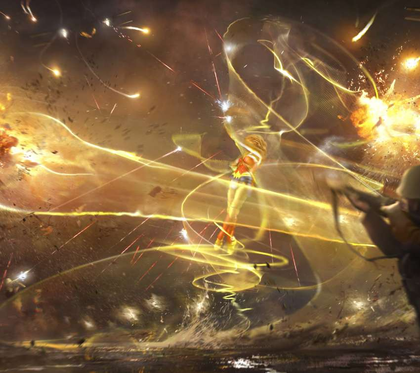 Wonder Woman concept art - Flower of Light Mobile Horizontal fond d'écran
