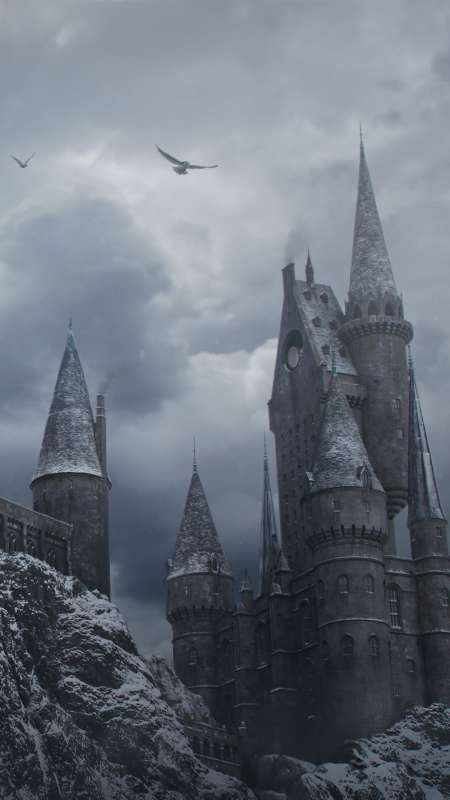 Hogwarts in the Snow Mobile Vertical fond d'écran