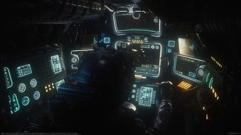 Military Space Cockpit fond d'écran