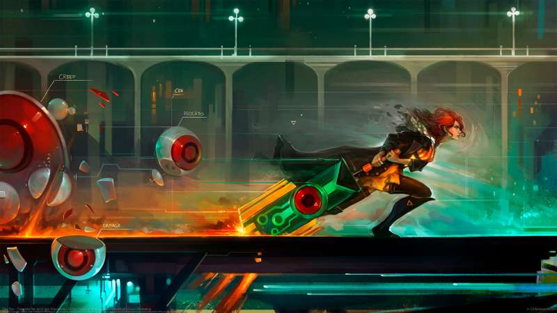 Red Run - Transistor fan art fond d'écran