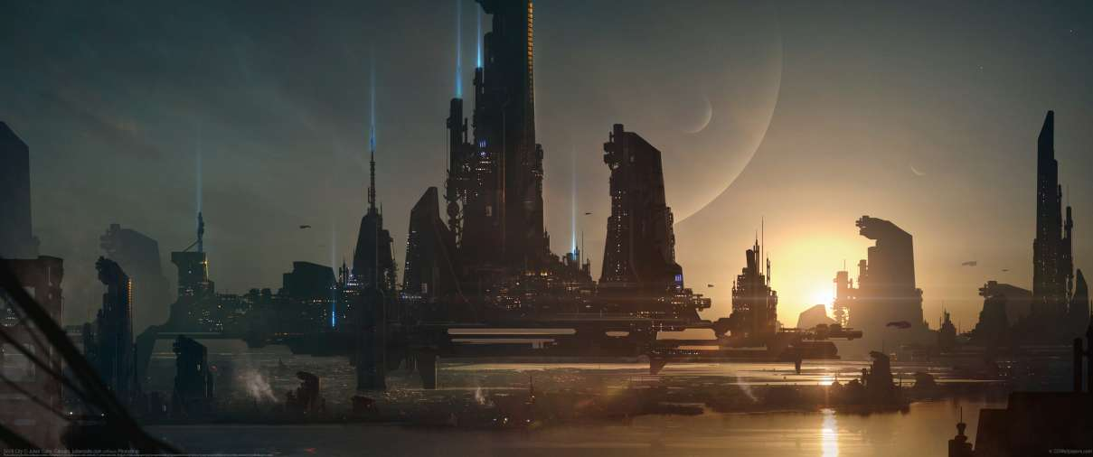 Sci-fi City ultralarge fond d'écran