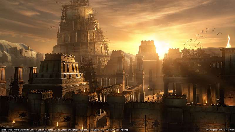 Prince of Persia Warrior Within Intro: Sunset on Babylon fond d'écran