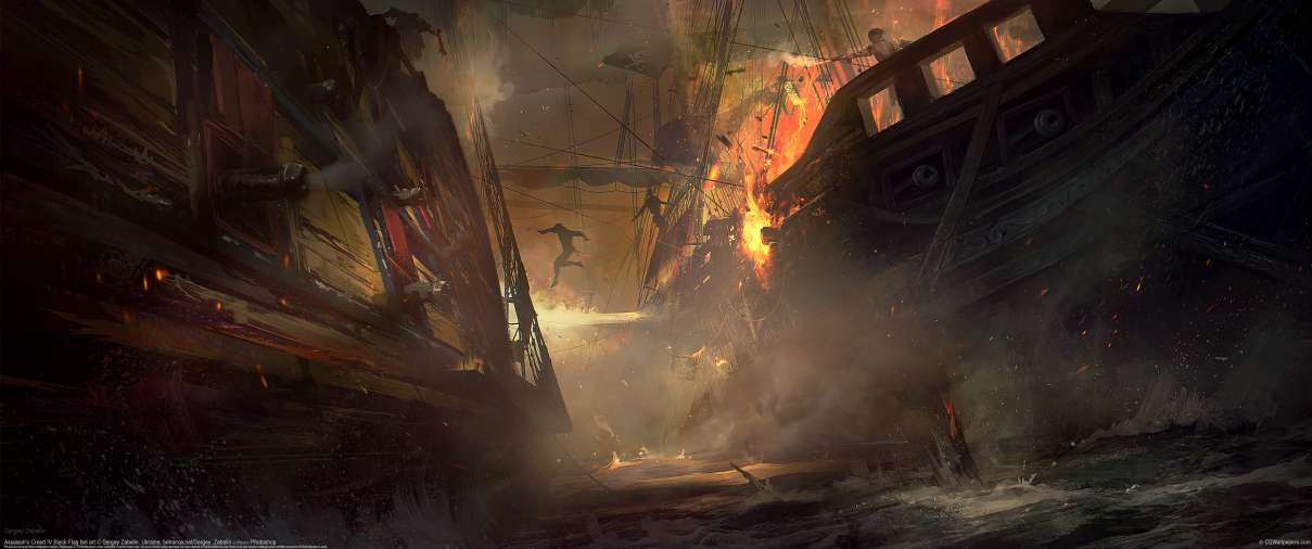 Assassin's Creed IV Black Flag fan art ultralarge fond d'écran